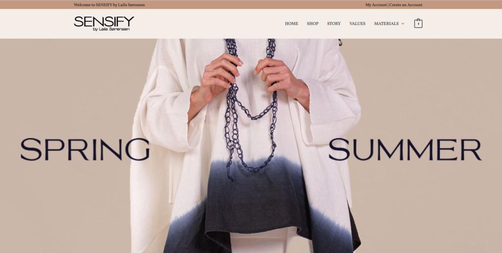 Sensify page